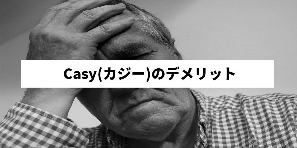 Casy(カジー)のデメリット