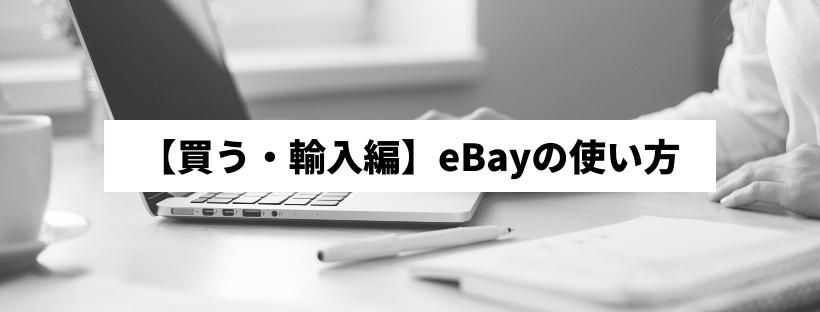 【買う・輸入編】eBayの使い方