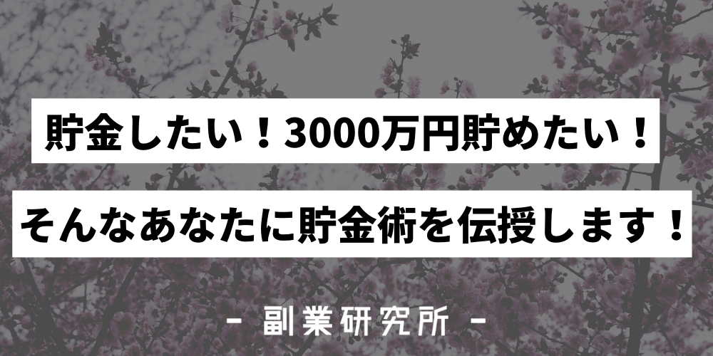 【必見】3000万貯金する方法を紹介!優雅な老後を過ごそう!