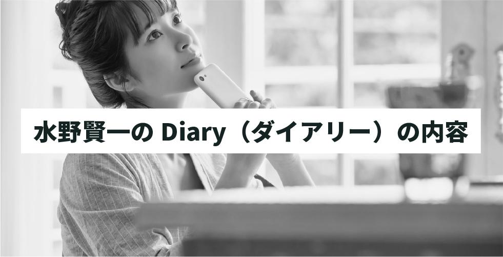 水野賢一のDiary(ダイアリー)の内容